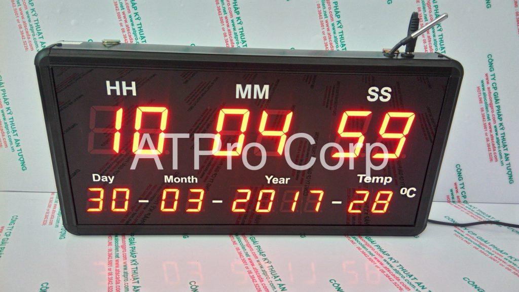 ĐỒNG HỒ ĐIỆN TỬ LED TREO TƯỜNG - DONG HO DIEN TU LED TREO TUONG ATC-HMS-D-T-S