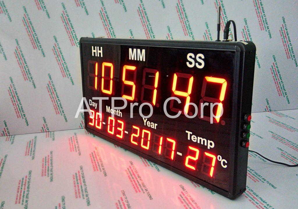 ĐỒNG HỒ ĐIỆN TỬ LED TREO TƯỜNG - DONG HO DIEN TU LED TREO TUONG ATC-HMS-D-T-L 2