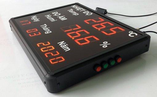 thiết bị đo nhiệt ẩm hiển thị ngày tháng năm