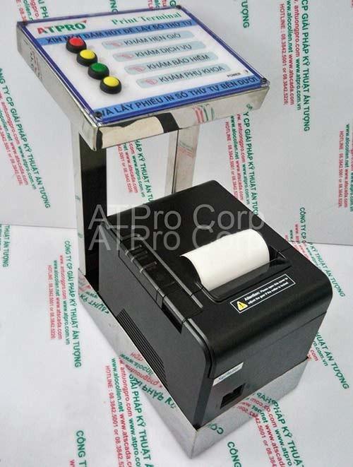 máy lấy số thứ tự trong hệ thống xếp hàng tự động