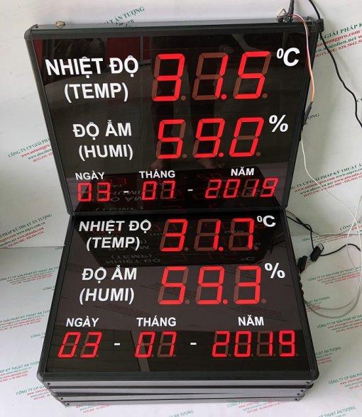 bảng điện tử nhiệt ẩm hiển thị thời gian