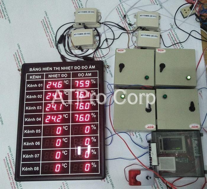 bảng điện tử hiển thị nhiệt độ độ ẩm