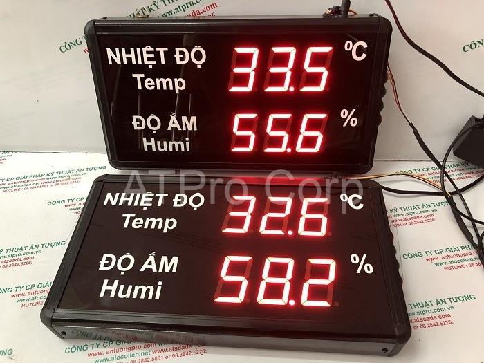 bảng điện tử giám sát nhiệt độ độ ẩm