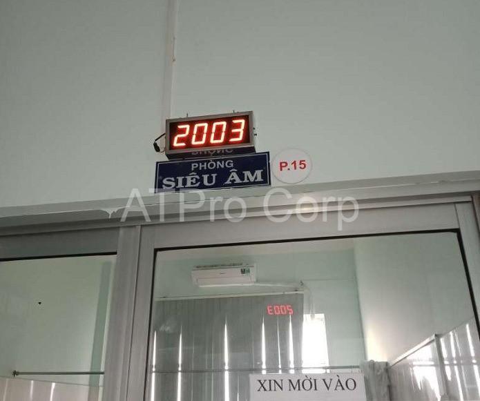 hệ thống gọi số - bảng led hiển thị tại quầy