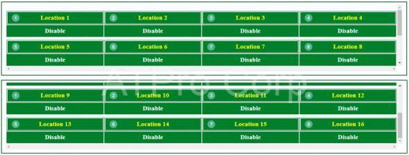 các vùng nhớ giao diện web server