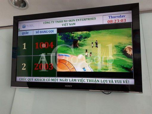 Phần mềm gọi số thứ tự - Giao diện LCD - Công ty Nuskin