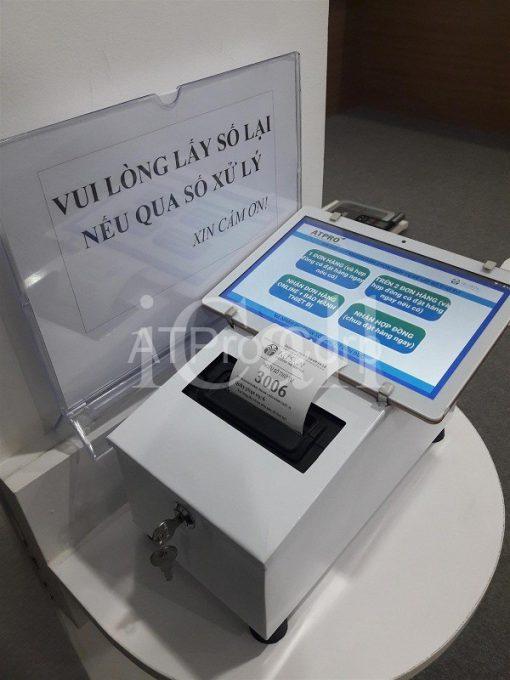 Phần mềm gọi số thứ tự - Giao diện máy in phiếu tablet - Công ty Nuskin