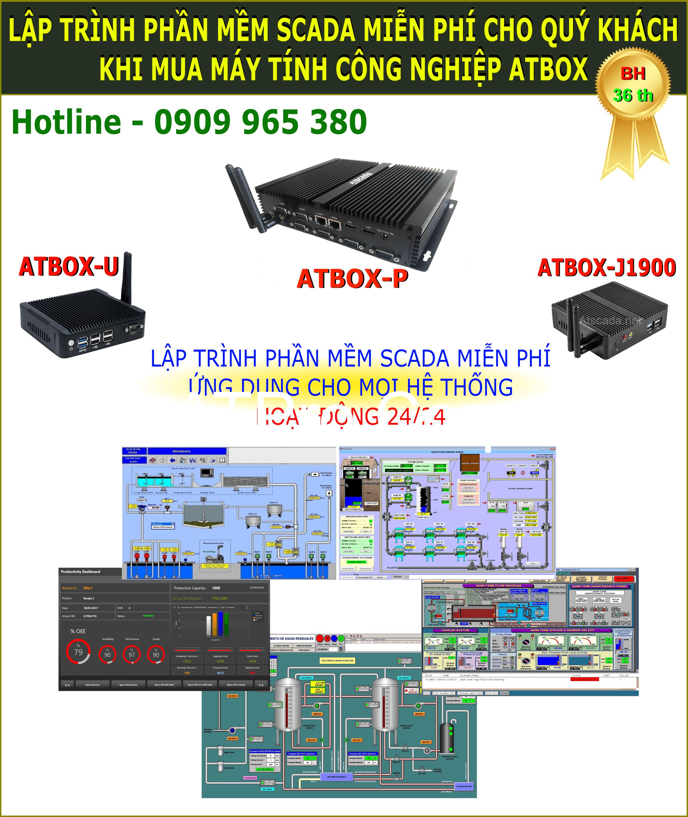 Máy tính công nghiệp gồm phần mềm SCADA giám sát phân tán