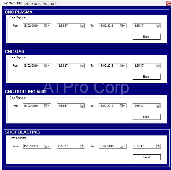 mẫu báo cáo hệ thống giám sát sản xuất