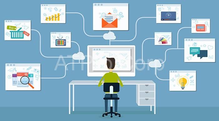 Điều khiển giám sát thiết bị qua internet.
