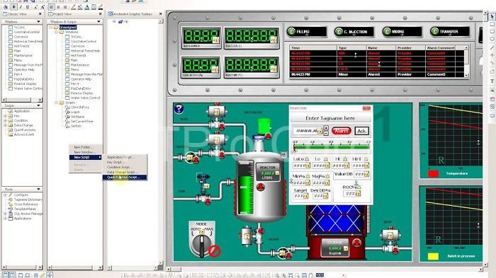 Scada Intouch Wonderware là phần mềm cung cấp hệ thống đồ họa trực quan