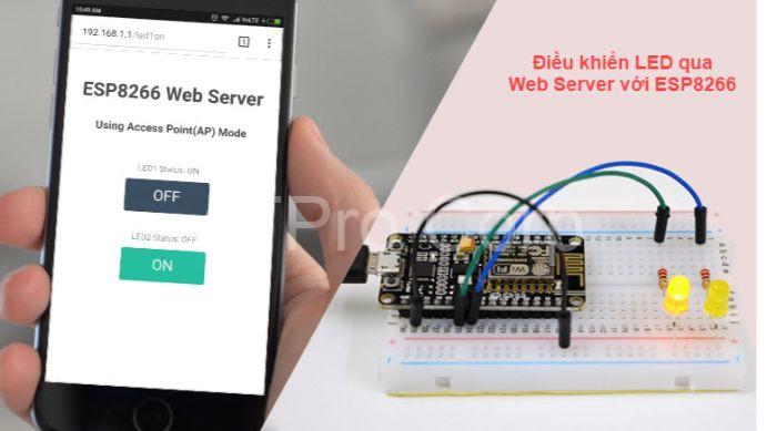 Có rất nhiều thiết bị điều khiển qua webserver