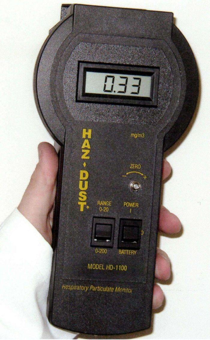 Hình ảnh thiết bị cầm tay dùng để đo bụi