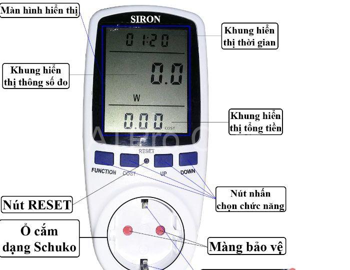 Dựa vào nguyên lý làm việc và đại lượng đo cùng giá trị đo mà người ta phân ra các thiết bị đo số điện khác nhau