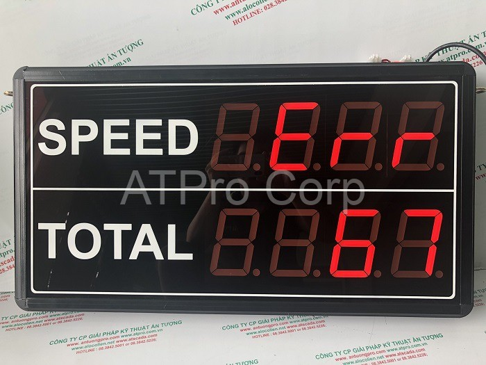 bảng điện tử đo tốc độ máy