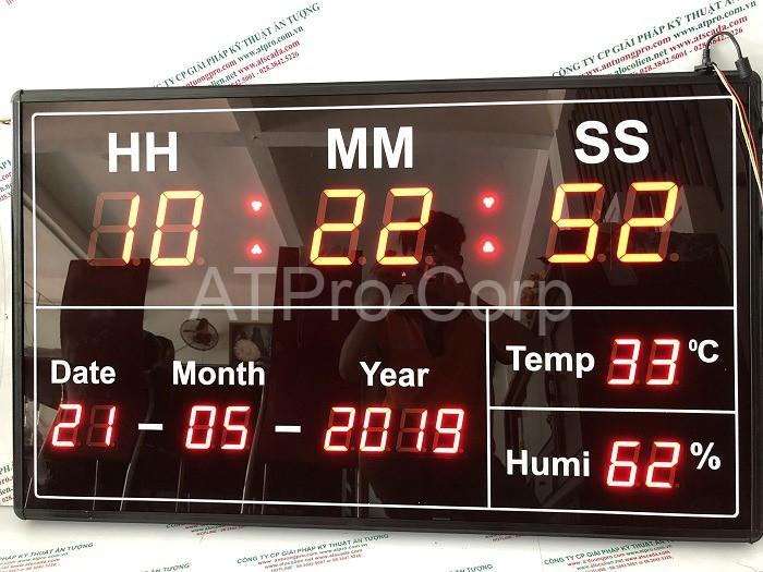 bảng led xem giờ đo nhiệt ẩm