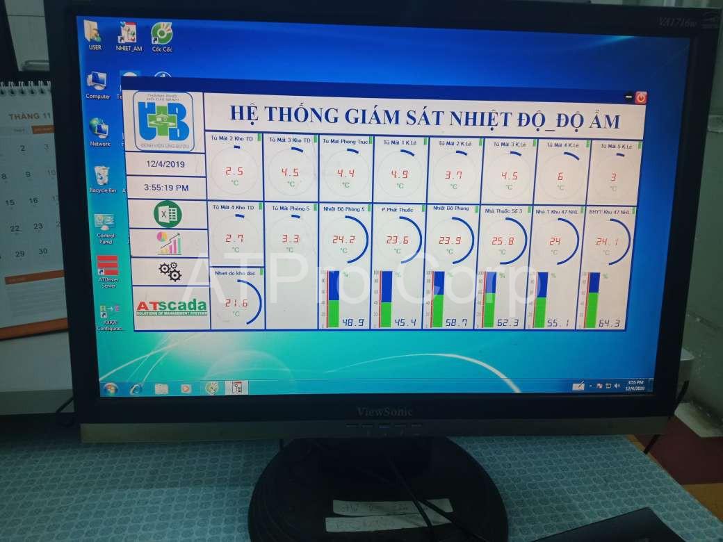 giao diện phần mềm hệ thống giám sát và cảnh báo nhiệt độ