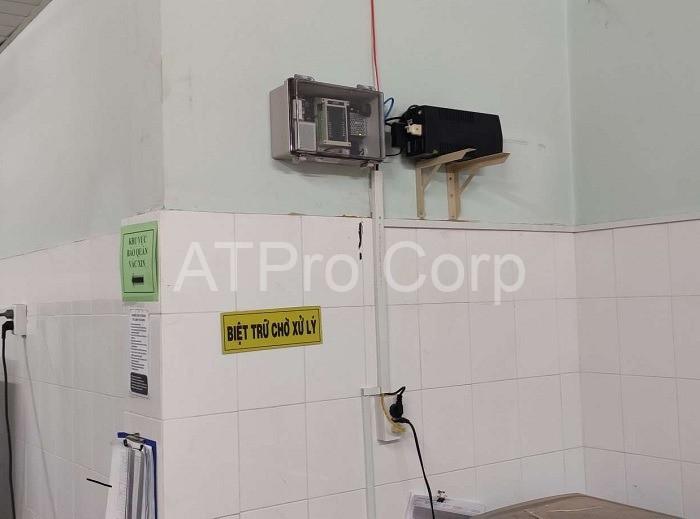 bộ giám sát nhiệt độ tủ vaccine - lắp đặt