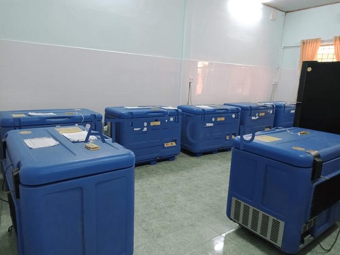 thiết bị giám sát tủ vaccine - lắp đặt