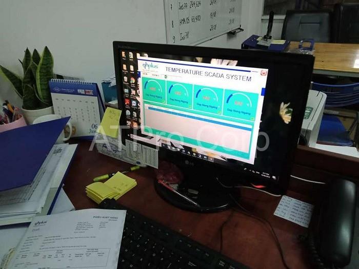 hệ thống giám sát nhiệt độ nhà máy thép