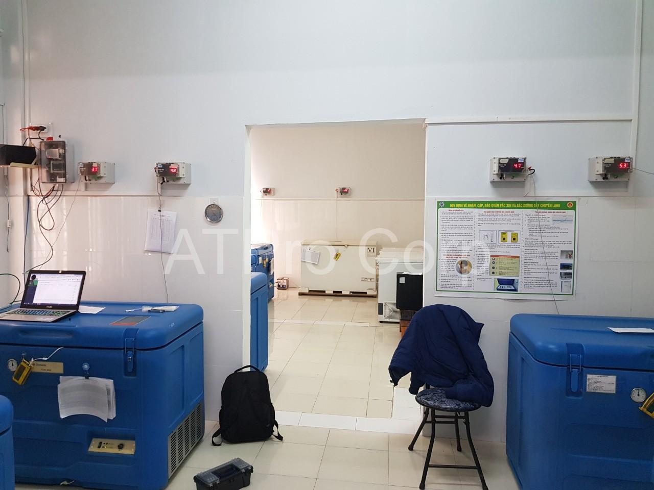 hệ thống cảnh báo theo dõi nhiệt độ kho vaccine - lắp đặt
