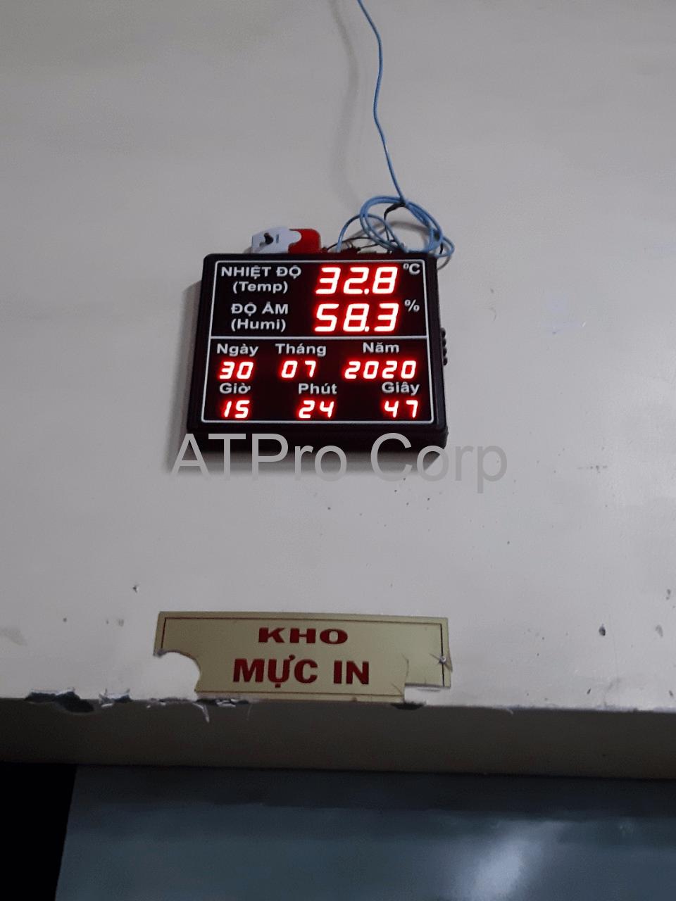 hệ thống giám sát nhiệt ẩm nhà kho