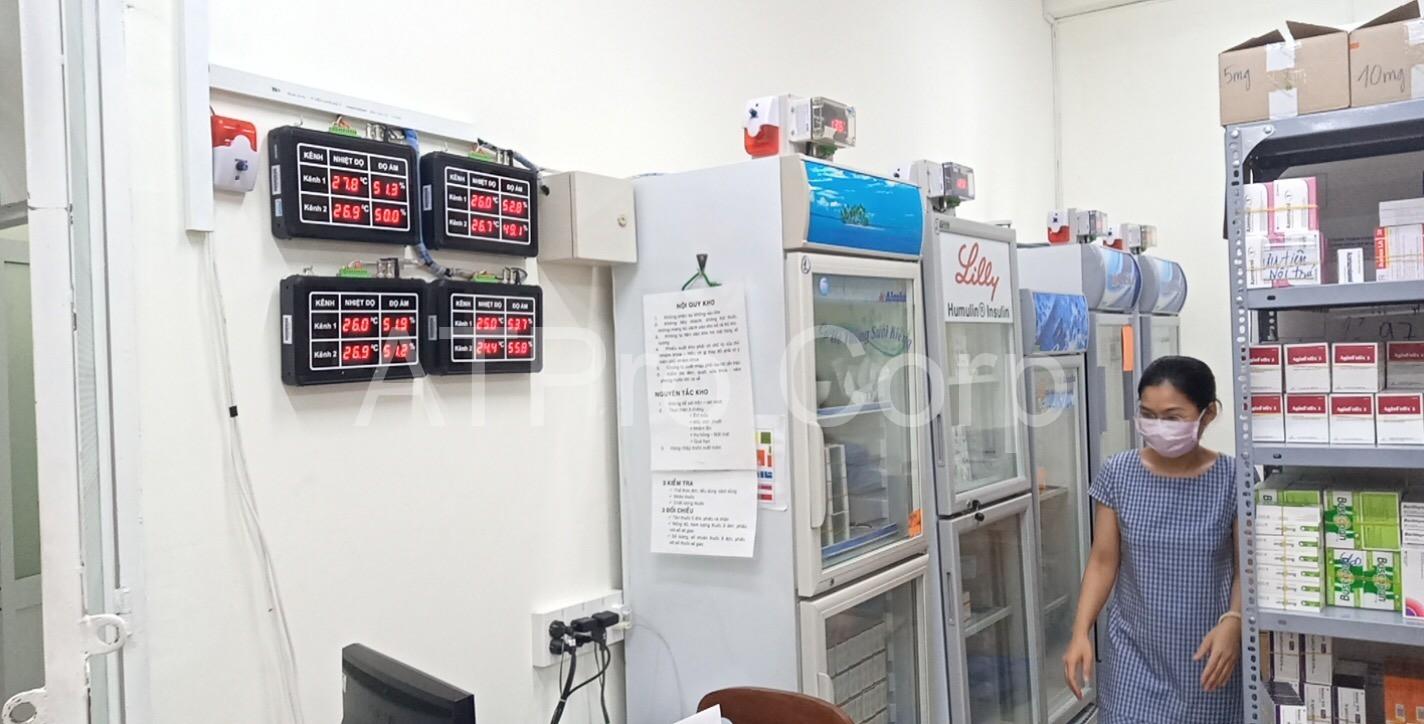 hệ thống cảnh báo nhiệt độ kho thuốc