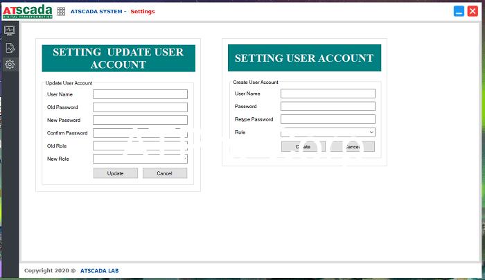 Hệ thống giám sát sản xuất - Giao diện winform setting